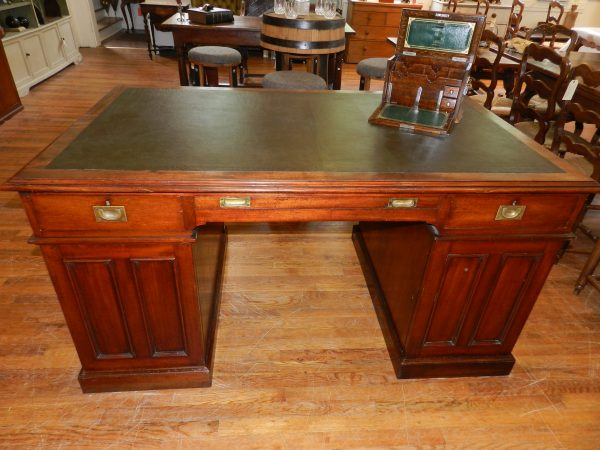 Mahogany Twin Pedestal Partners Desk